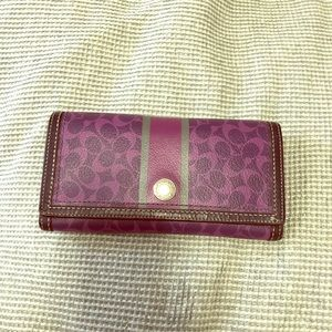 Genuine coach leather wallet